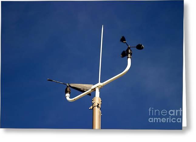 Weather Report Greeting Cards - Weather Station Greeting Card by Henrik Lehnerer