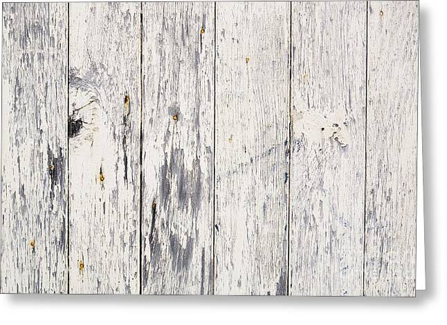 Plank Greeting Cards - Weathered Paint on Wood Greeting Card by Tim Hester