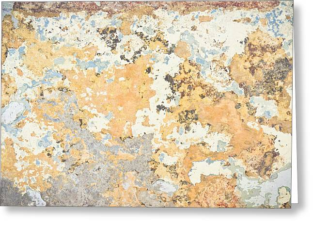 Grungy Greeting Cards - Weathered wall Greeting Card by Tom Gowanlock