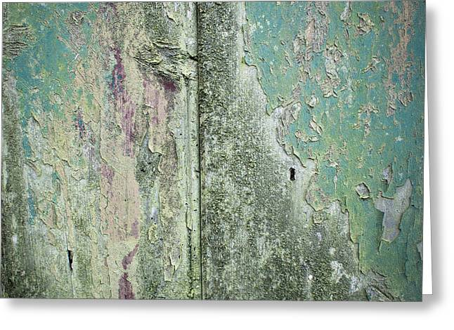 Old Plank Tables Greeting Cards - Weathered wood Greeting Card by Tom Gowanlock