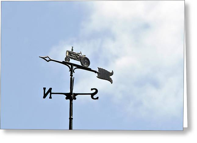 Weathervane Greeting Cards - Weathervane - Tractor Greeting Card by Wayne Sheeler
