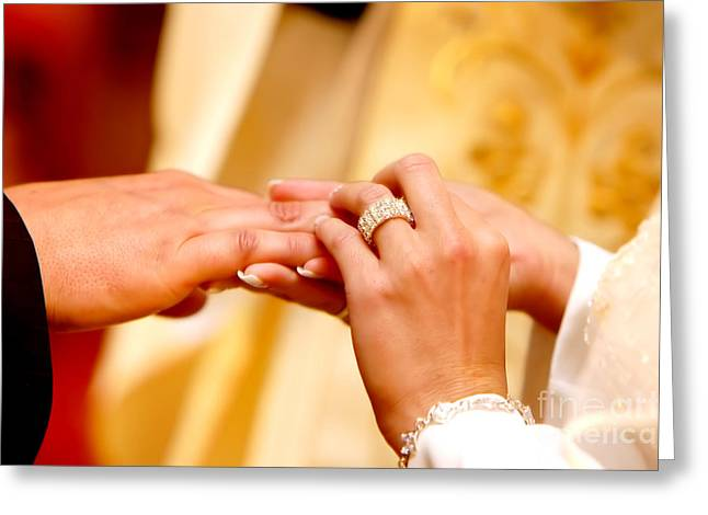 Reception Greeting Cards - Wedding ceremony Greeting Card by Michal Bednarek