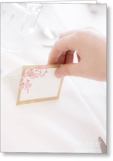 Cater Greeting Cards - Wedding Table Setup Greeting Card by Ryan Jorgensen