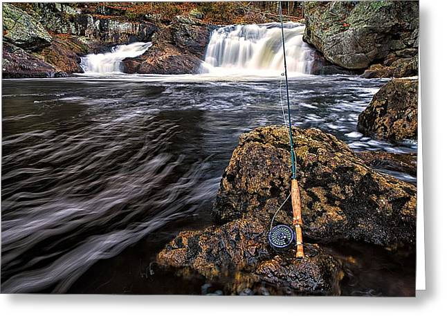 White River Scene Greeting Cards - 1 Weight On The Isinglass. Greeting Card by Jeff Sinon
