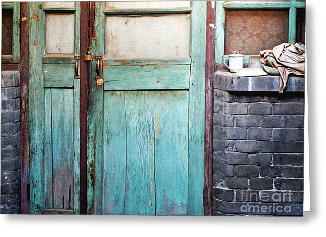 Old Beijing Greeting Cards - Welcome Home in Beijing Greeting Card by Glennis Siverson
