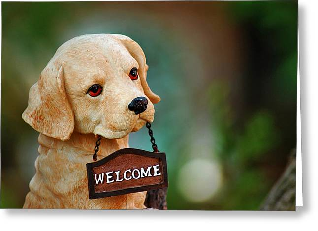 Welcome Greeting Card by Orazio Puccio