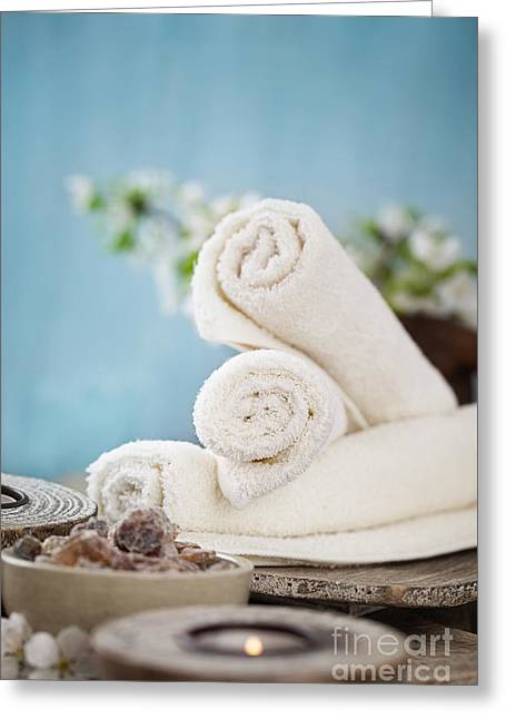Therapy Greeting Cards - Wellness products Greeting Card by Mythja  Photography