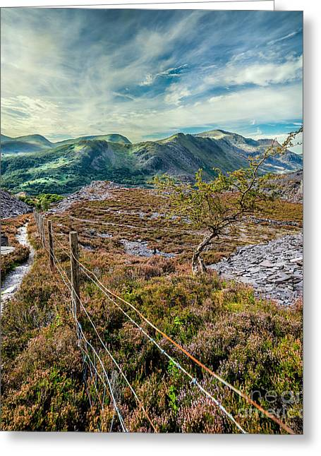 Step Ladder Greeting Cards - Welsh Mountains Greeting Card by Adrian Evans