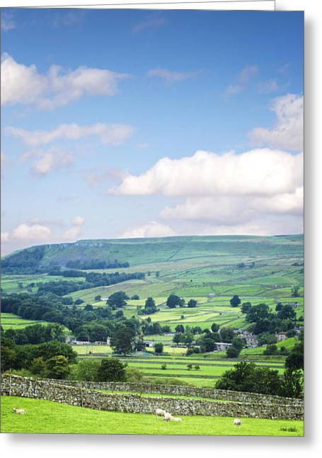 Dry Stone Wall. Greeting Cards - Wensleydale Yorkshire Dales England Greeting Card by Colin and Linda McKie