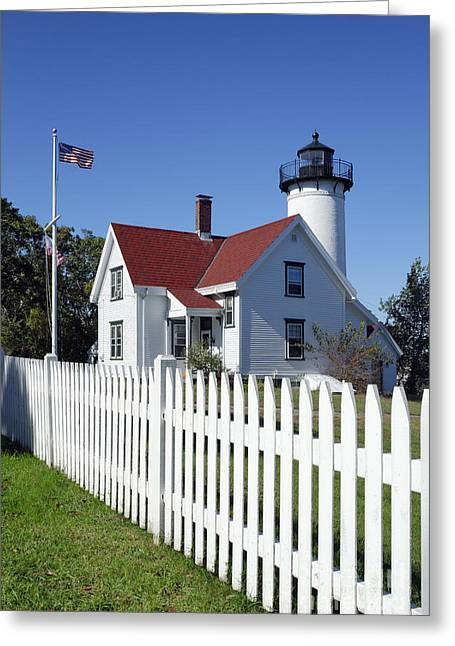Keepers House Greeting Cards - West Chop Lighthouse Greeting Card by John Greim