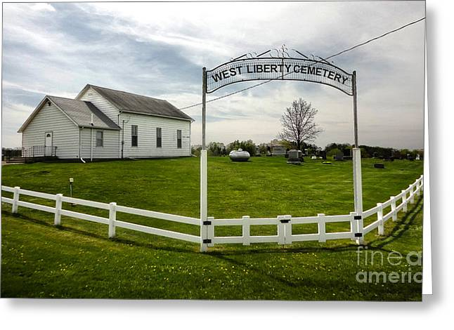 West Liberty Cemetery In Montezuma Iowa Greeting Card by Gregory Dyer