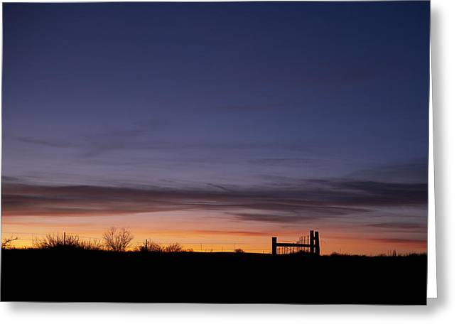 Barbs Greeting Cards - West Texas Sunset Greeting Card by Melany Sarafis