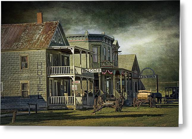 Town Walls Greeting Cards - Western 1880 Town in South Dakota Greeting Card by Randall Nyhof