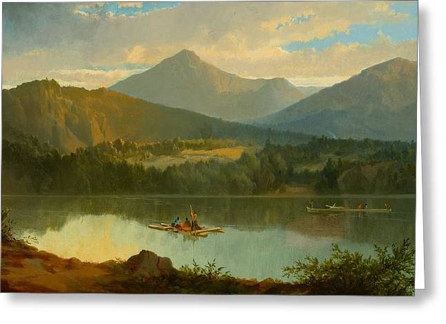 Beautiful Greeting Cards - Western Landscape Greeting Card by John Mix Stanley