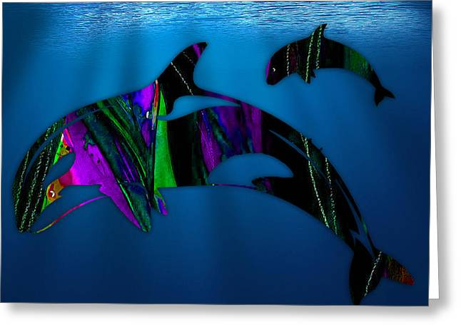 Whale Greeting Cards - Whales Greeting Card by Marvin Blaine