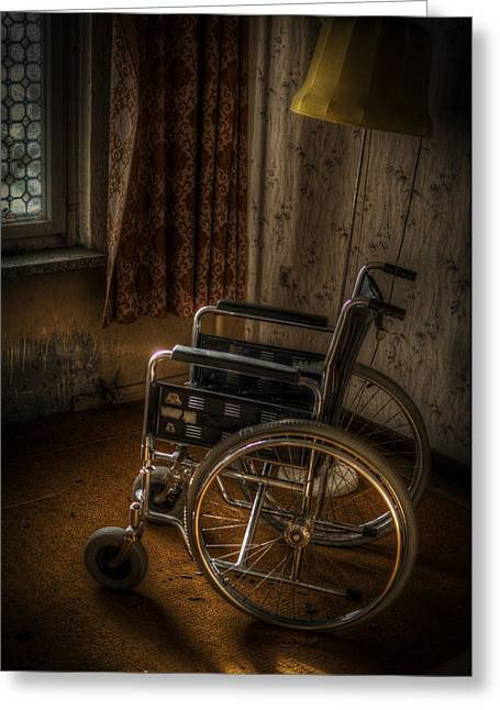 Haunted House Digital Greeting Cards - Wheelchair view  Greeting Card by Nathan Wright
