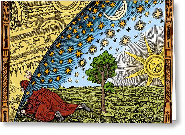 Middle Ages Greeting Cards - Where Heaven And Earth Meet 1888 Greeting Card by Science Source