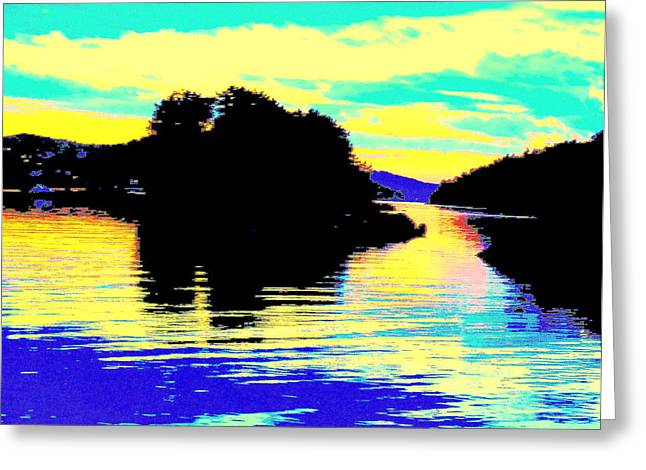 Basement Greeting Cards - Shadow Island  Greeting Card by Hilde Widerberg