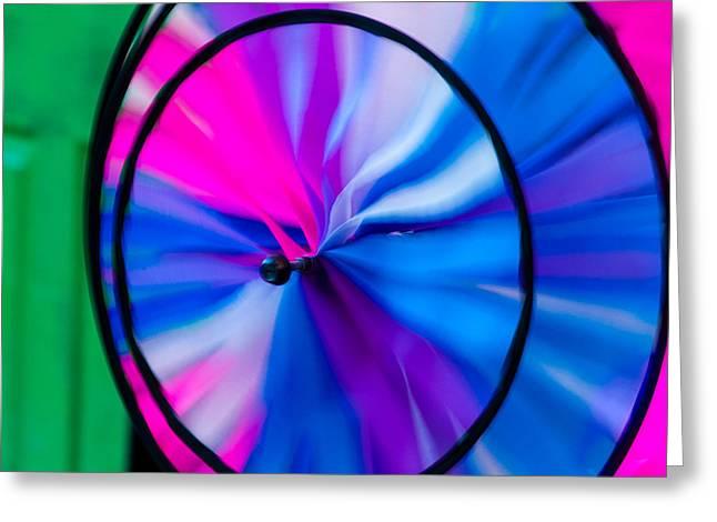 Whirligig Greeting Cards - Whirligig 3 Greeting Card by David Smith