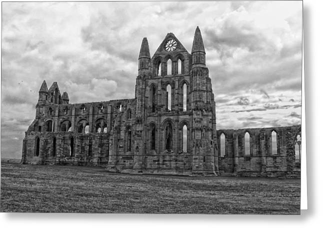 Historic England Greeting Cards - Whitby Abbey in England Greeting Card by Mountain Dreams