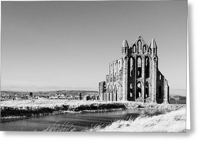 Whitby Abbey Greeting Card by Paul Cowan