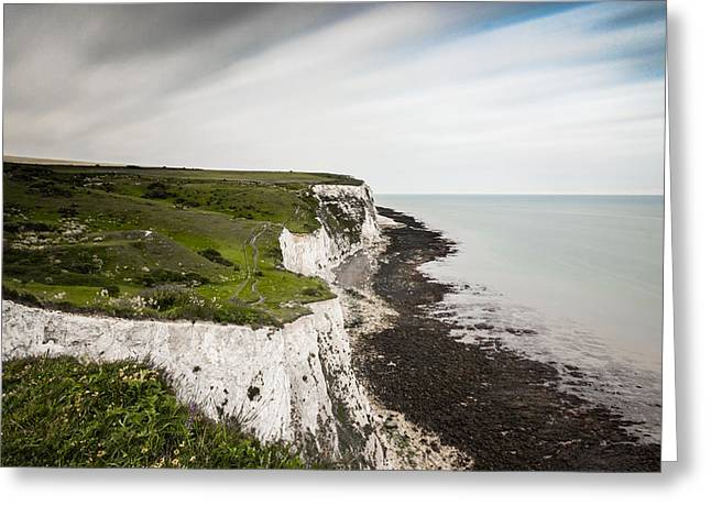 Port Kent Greeting Cards - White Cliffs of Dover Greeting Card by Ian Hufton