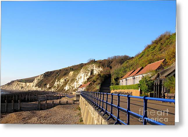 Art Photography Greeting Cards - White cliffs of Eastbourne Beachy Head Greeting Card by Art Photography