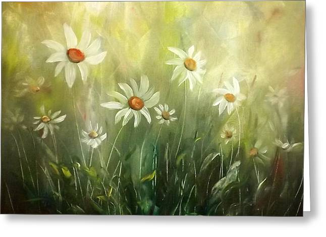 Greeting Cards - White Daisies Greeting Card by Gina De Gorna