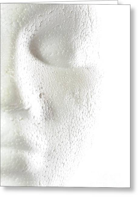 Foam Sculpture Greeting Cards - White Face Greeting Card by Neal Grundy