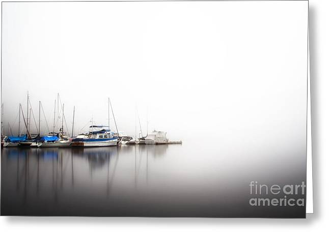 Commercial Photography Pyrography Greeting Cards - White Marina Greeting Card by Jack Vainer