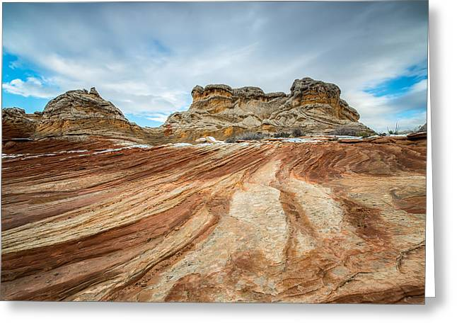 White Pocket Utah Greeting Card by Larry Marshall
