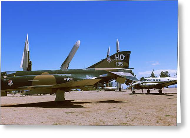 Military Planes Greeting Cards - White Sands Missile Base, White Sands Greeting Card by Panoramic Images