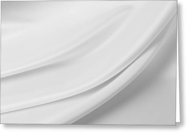 Silk Greeting Cards - White silk Greeting Card by Les Cunliffe