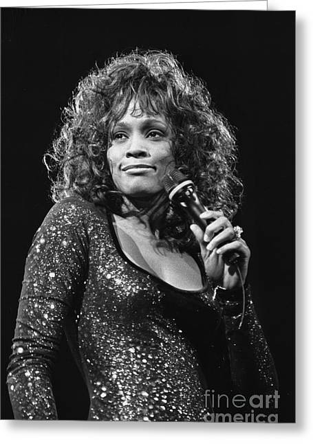 Fashion Pictures For Sale Greeting Cards - Whitney Houston Greeting Card by Front Row  Photographs