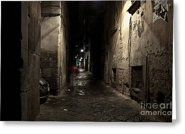 Naples Photographs Greeting Cards - Who Goes There Greeting Card by Marion Galt