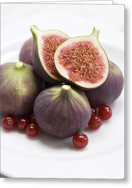 Ficus Greeting Cards - Whole And Halved Figs Greeting Card by Jon Stokes