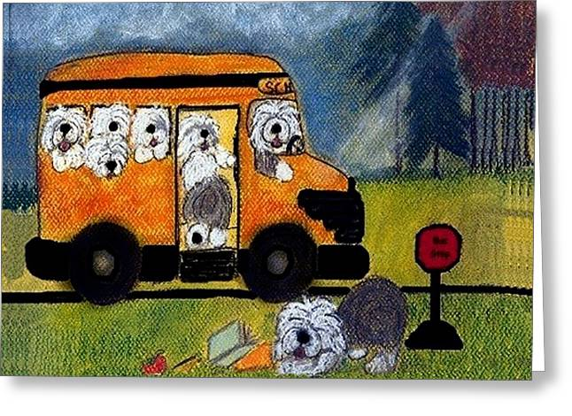 Bobtails Greeting Cards - Wigglebottom Bus Greeting Card by Cathy Howard