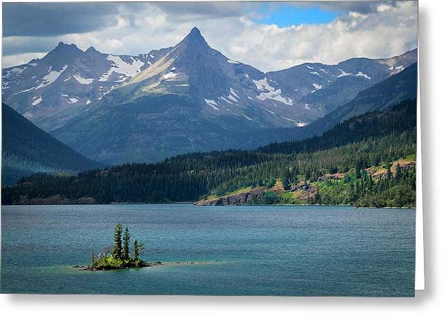 Clean Water Greeting Cards - Wild Goose Island Glacier National Park Greeting Card by Rich Franco