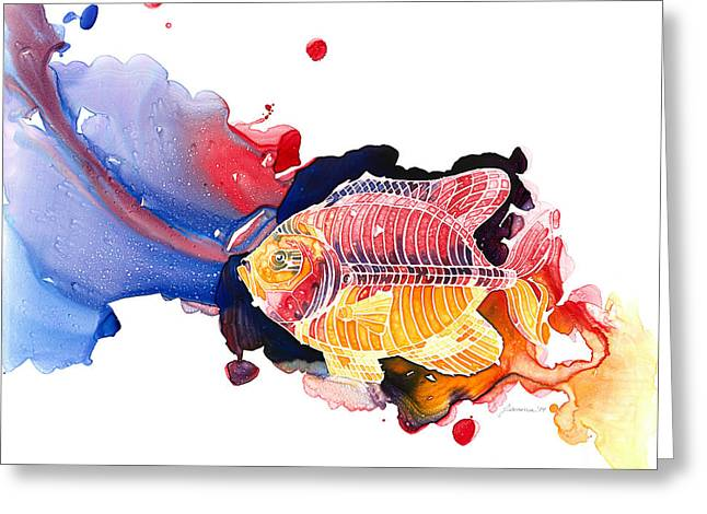 Loose Style Paintings Greeting Cards - Wild Water Greeting Card by Mike Lawrence