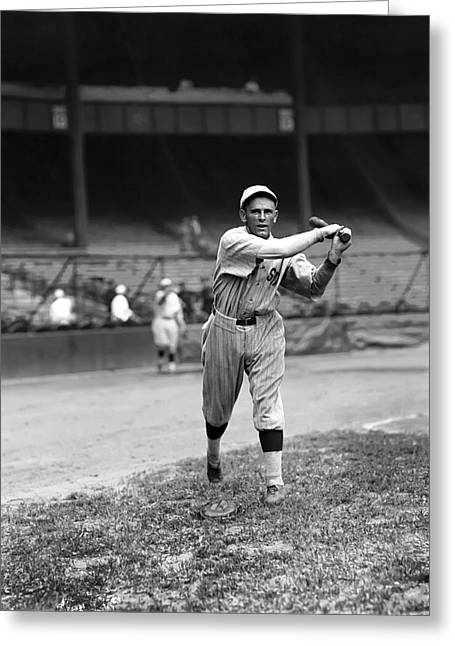 Baseball Bat Greeting Cards - William E. Bill Narleski Greeting Card by Retro Images Archive