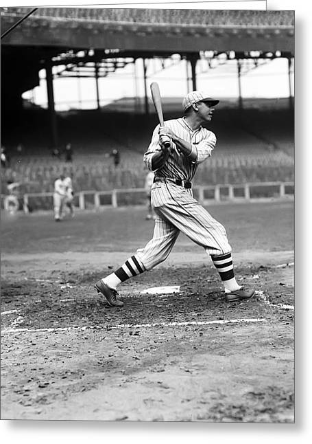 Baseball Uniform Greeting Cards - William H. Bill Terry Greeting Card by Retro Images Archive