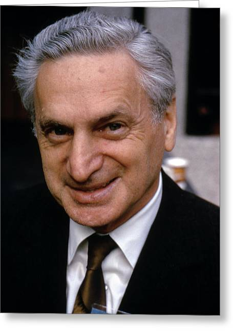 William Markowitz Greeting Card by Aip Emilio Segre Visual Archives, John Irwin Slide Collection