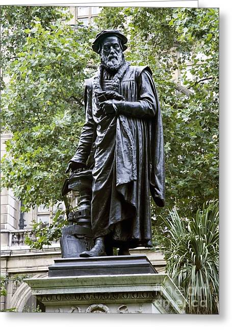 William Tyndale, English Theologian Greeting Card by Sheila Terry