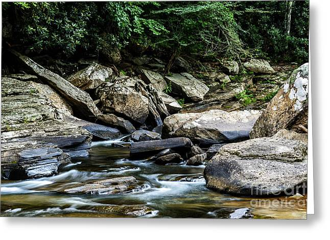 Trout Stream Landscape Greeting Cards - Williams River Rocks Greeting Card by Thomas R Fletcher