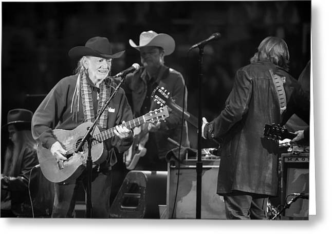 Beloved Greeting Cards - Willie Nelson - Live in Austin Greeting Card by Mountain Dreams