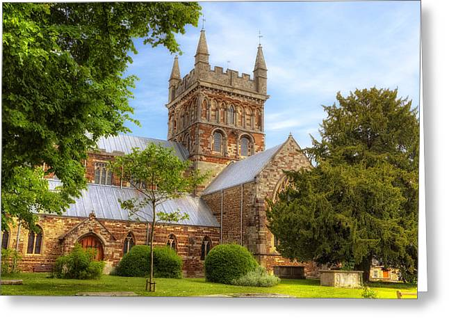 Minster Greeting Cards - Wimborne Minster Greeting Card by Joana Kruse