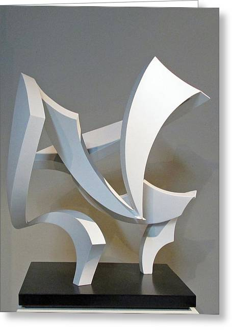 Abstract Movement Sculptures Greeting Cards - Wind Greeting Card by John Neumann