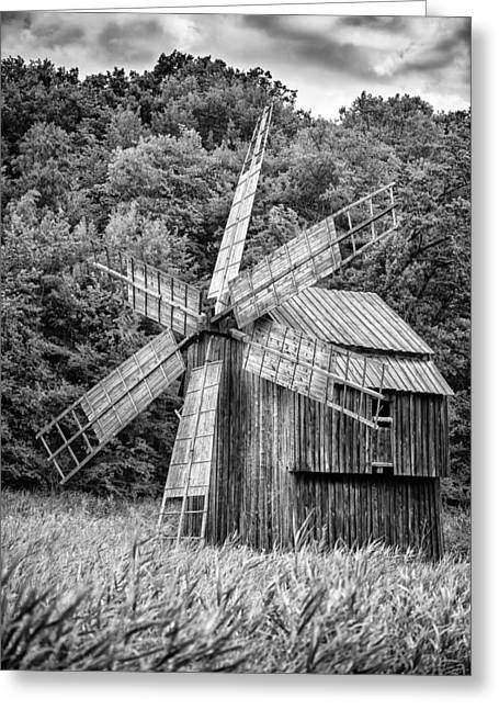 Generators Greeting Cards - Wind Mill Greeting Card by Dobromir Dobrinov