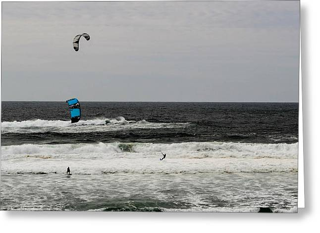 Surfin Greeting Cards - Wind Surfin Greeting Card by Indecisivelykat Photography