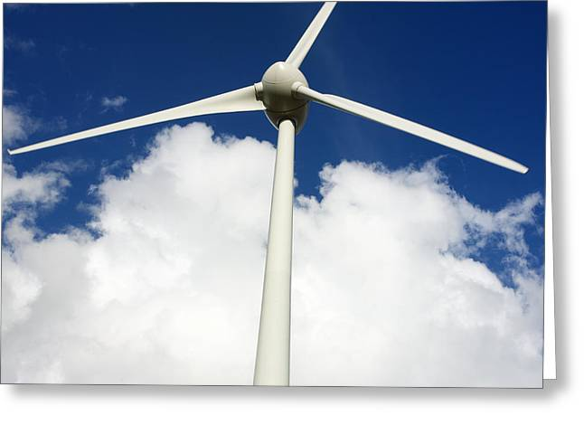 Wind turbine  Greeting Card by BERNARD JAUBERT